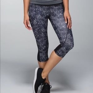 Lululemon Hop to It Printed Reflective Crops